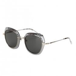 Óculos de Sol Cinza e Dourado